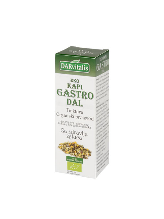 Darvitalis organic gastro dal tincture drops for stomach in a glass bottle of 50ml