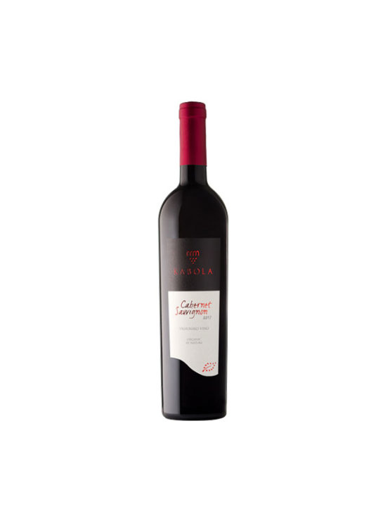 Kabola organic cabernet sauvignon 2017 in a glass bottle of 0,75l