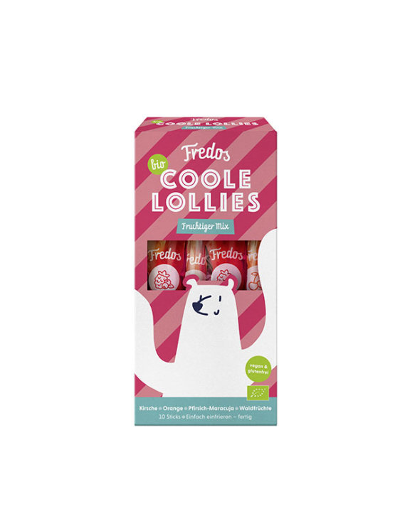 Fredo´s organic ice lollies in various fruity flavours