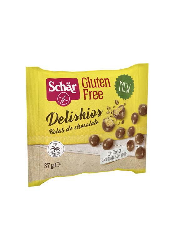 Schar gluten free crispy chocolate balls in a packaging of 37g