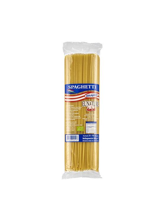 Eunature organic durum wheat spaghetti pasta in a packaging of 500g