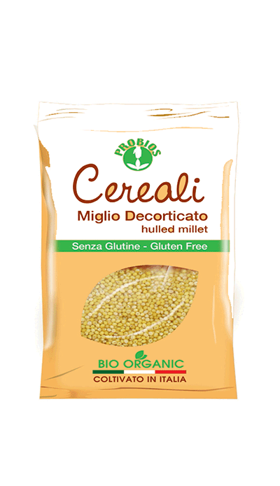 Probios organic hulled millet in a packaging of 400g