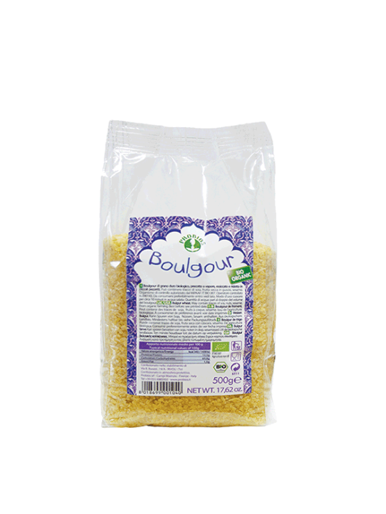 Probios organic bulgur in a 500g packaging.