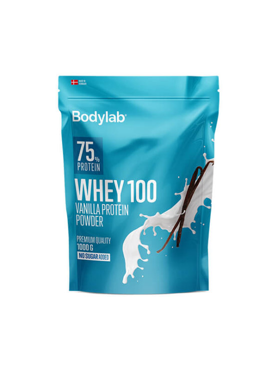 Bodylab whey 100 vanilla in a resealable packaging of 1000g