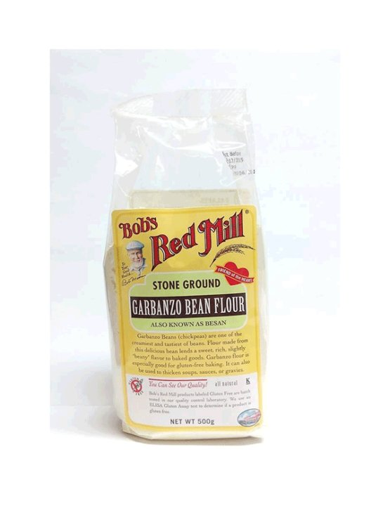 Bob's Red Mill gluten free chickpea flour in a packaging of 500g